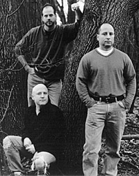 The three memebers of Question of Honour posing in front of a tree circa 2004.  Very dramtic.  :)
